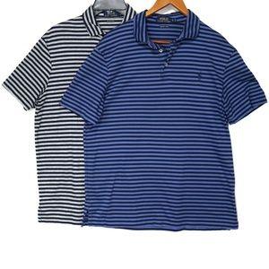 Polo Ralph Lauren Stripe Pima Soft Polo Shirts 2pc